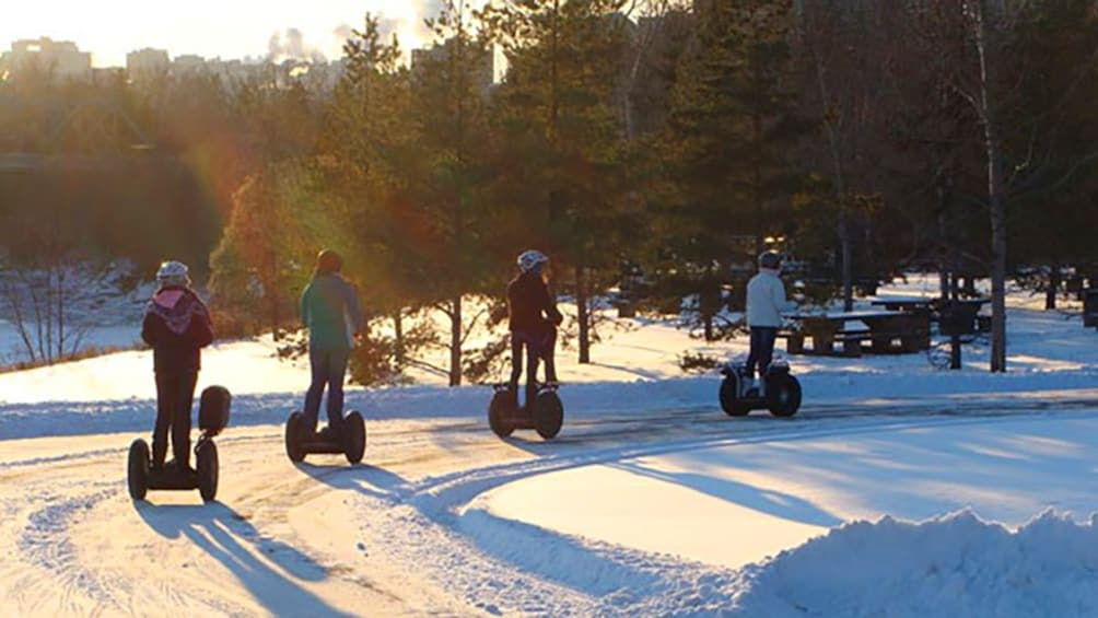 Show item 3 of 5. Segway tour in the snow
