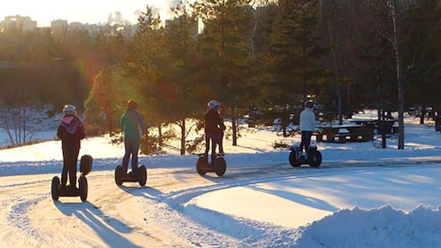 Segway tour in the snow