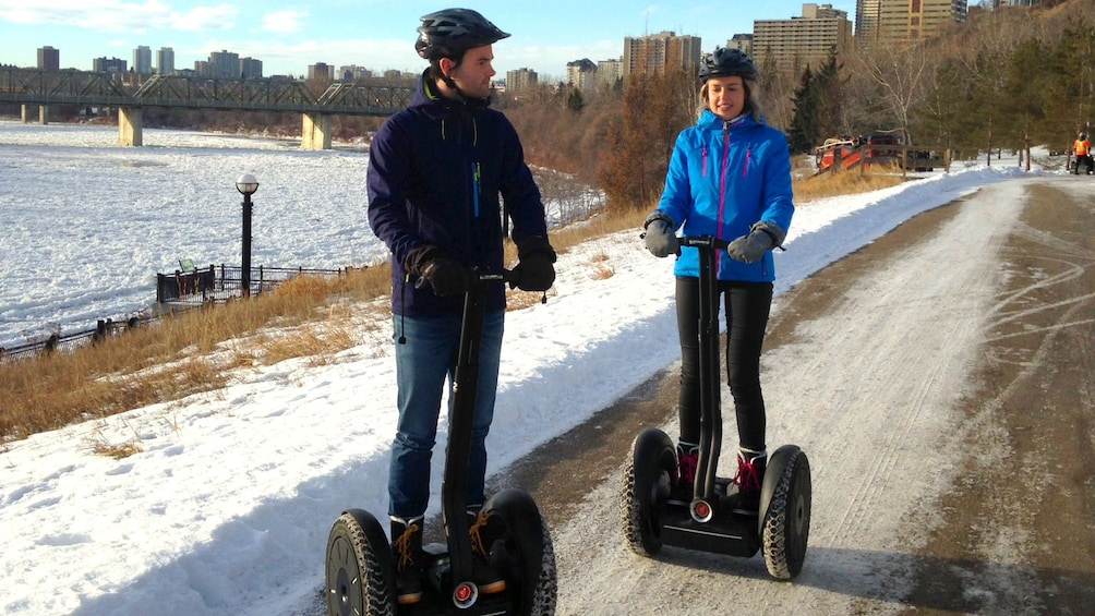 Show item 4 of 5. Segway tour in the snow