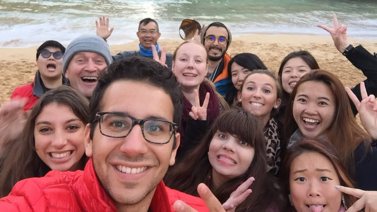 Group of tourists in Sydney