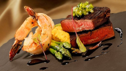 Surf and Turf shrimp and steak