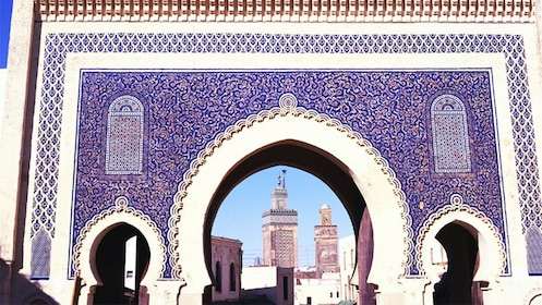 Ornate wall and arches in Morocco
