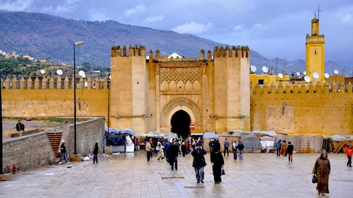 Walled city of Fes in Morocco