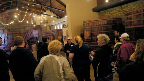 Tour group at a winery in San Francisco
