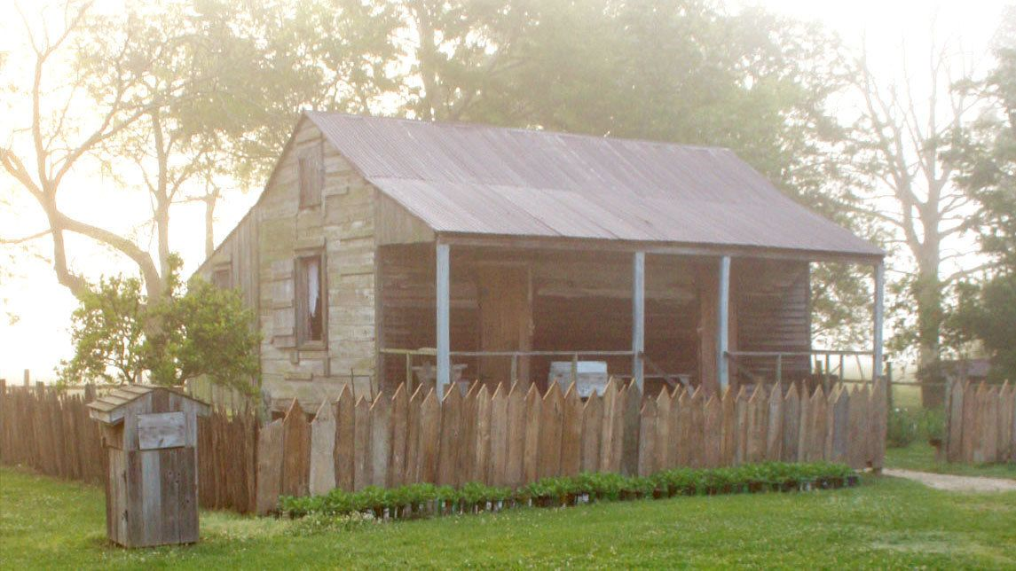 Slave quarters on a plantation in New Orleans