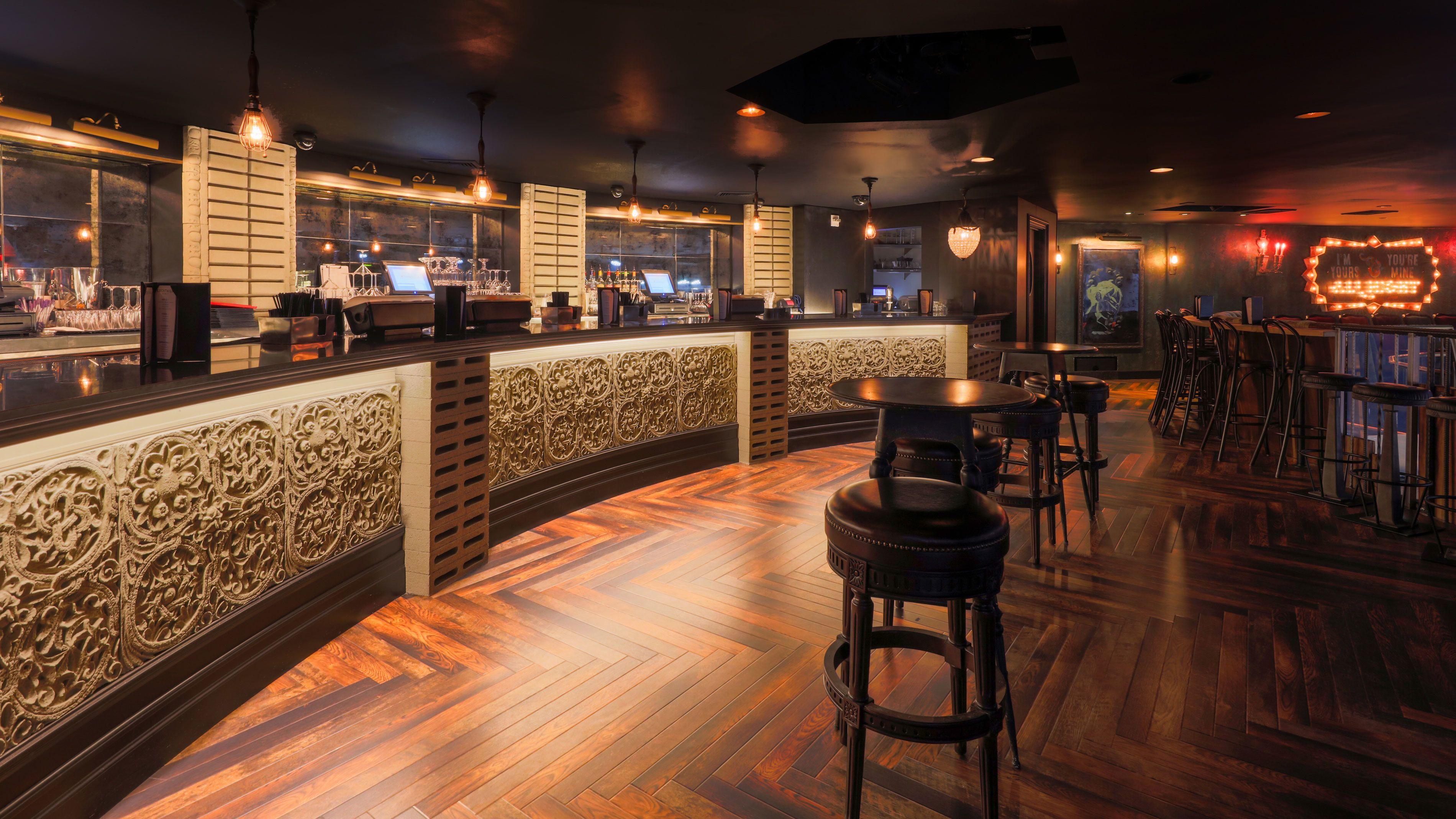 View of seating and bar at Hard Rock Hotel & Casino Las Vegas