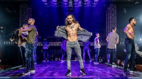 Magic Mike performers removing shirts during show in Las Vegas