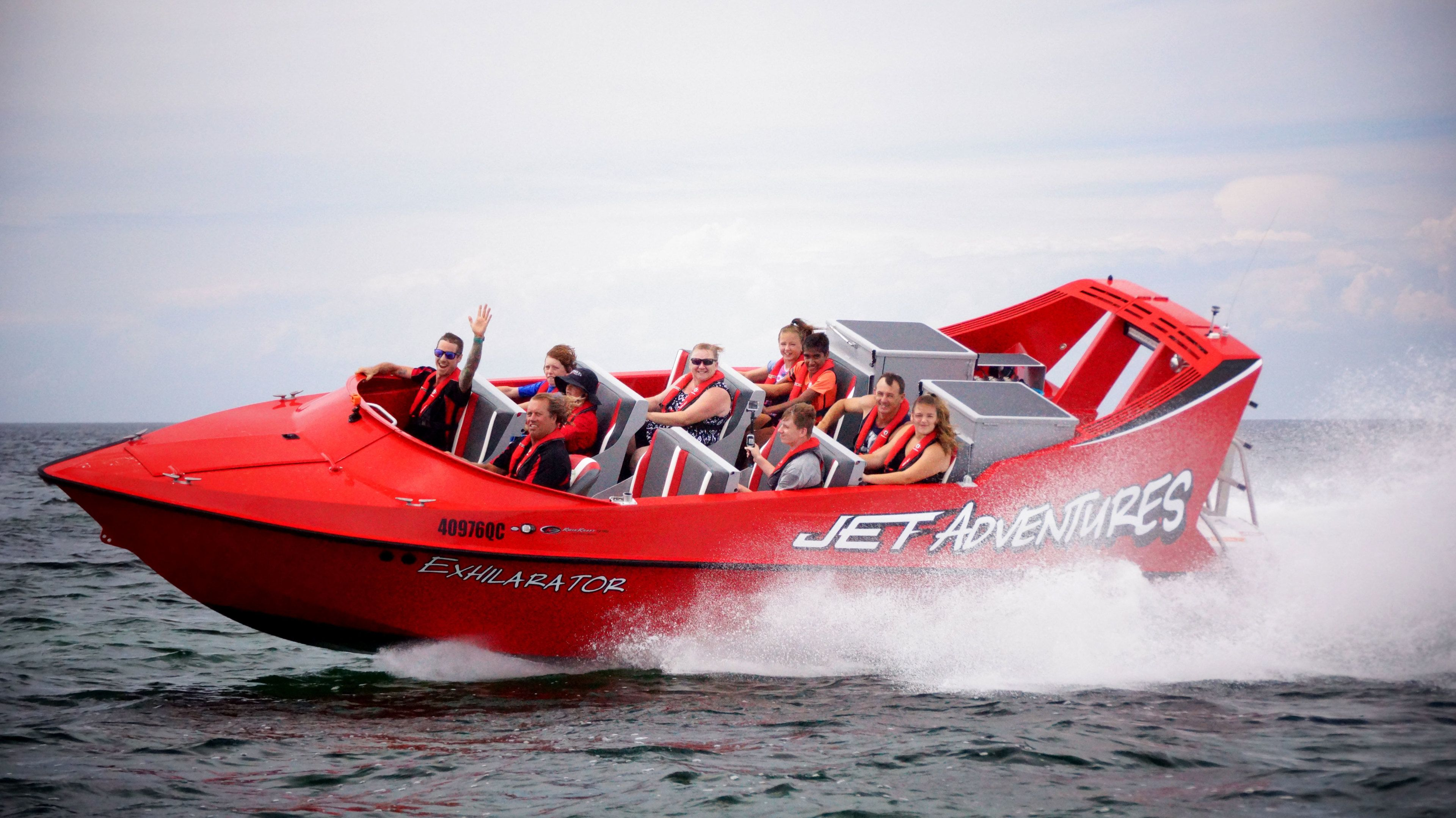 Jet boat on the water in Perth