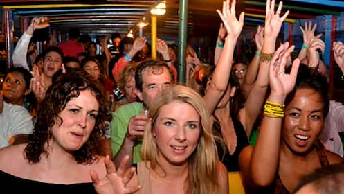 Party bus full of people in Cartagena