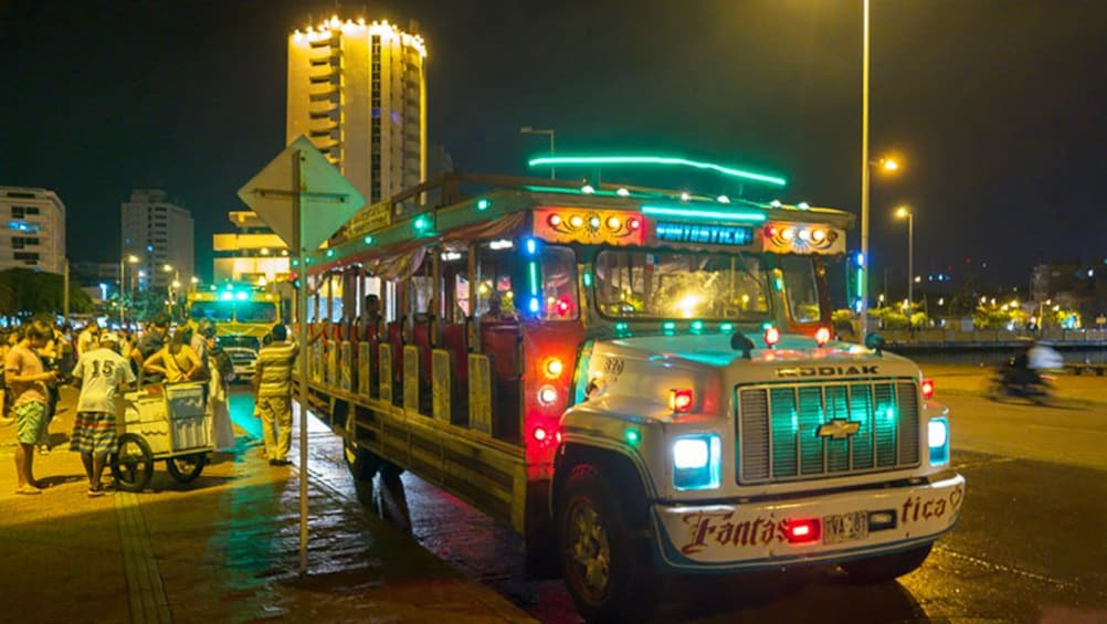 Show item 4 of 4. Party bus in Cartagena