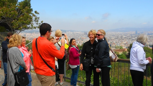 Tour group in Barcelona