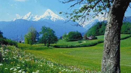 Bavarian Alps view in Salzburg