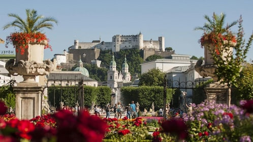 Tourists going to tour Sound of Music in Salzburg