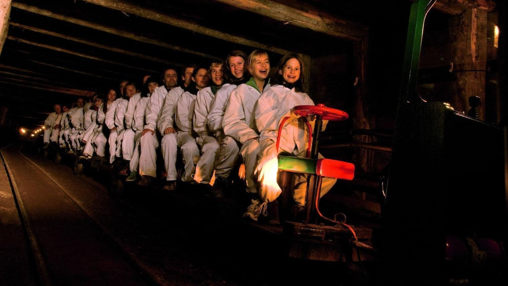 Show item 2 of 5. Tourists on Salt Mines Tour in Salzburg