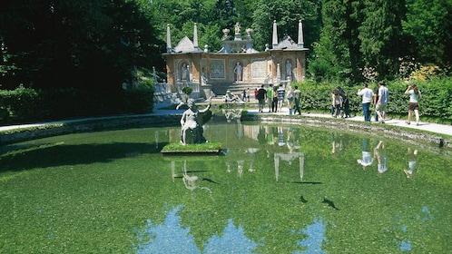 Tourists on tour of Salzburg