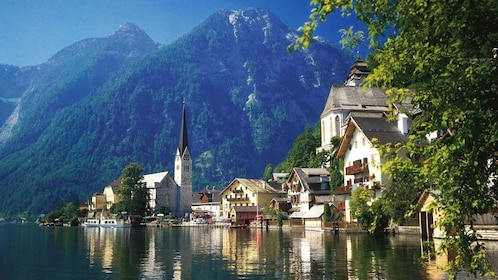 Majestic view of Hallstatt, Austria