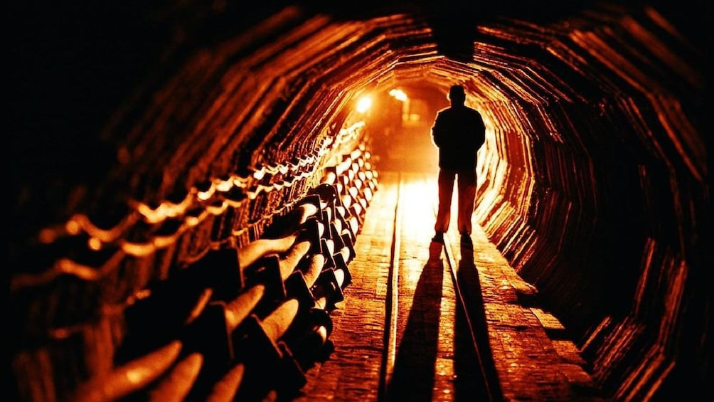 Show item 4 of 5. Journey down a salt mine tunnel in Salzburg