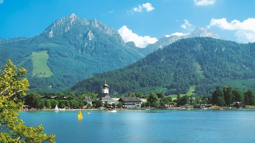 Town on a Lake in the Bavarian Alps