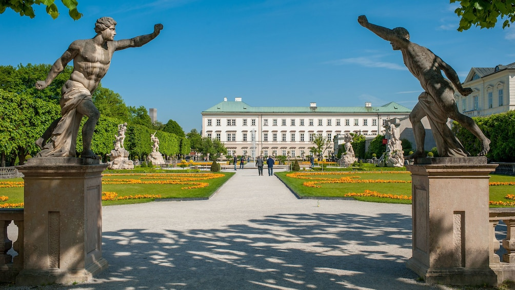 Show item 1 of 5. Fountains, garden and palace in Salzburg