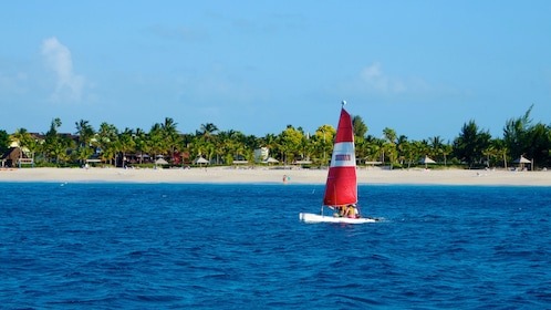 Sailboat off the shore of Turks and Caicos