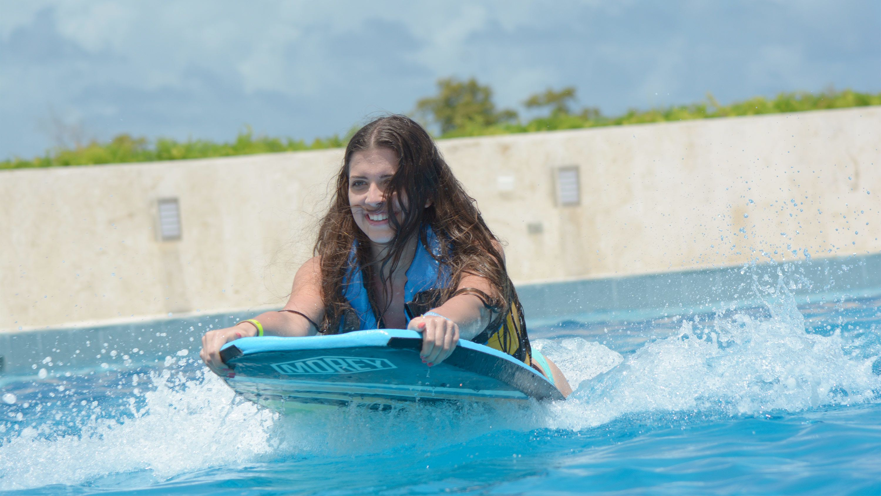 Young woman on the Dolphin Swim Adventure in Punta Cana
