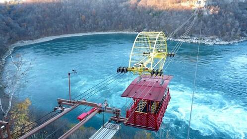 A gondola that ferries travelers across Niagara Falls