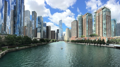 view of river through Chicago