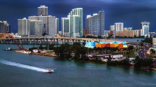 Evening skyline of Miami, Florida