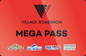 14 Day Mega Pass: Movie World, Sea World, Wet'n'Wild + More