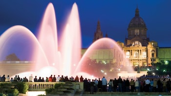 Barcelona at Night with Magic Fountain Show