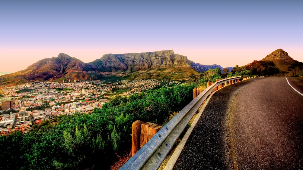Incredible view of the Table Mountain in South Africa