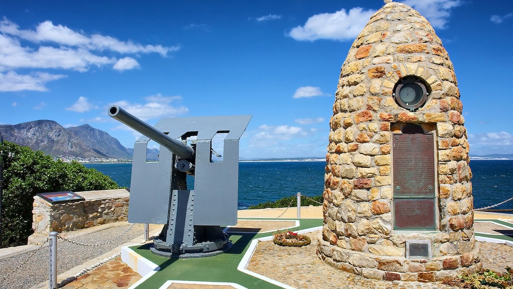 Show item 3 of 5. Military monument with gun emplacement in Hermanus