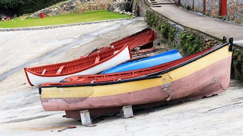 Boats in the old harbour in Hermanus