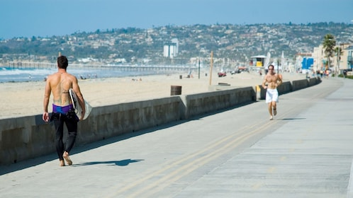 Boardwalk on the Coastal Tour of San Diego, CA