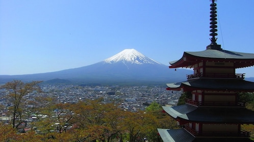 Mt. Fuji with a Pagoda in the foreground