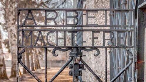 Gate at the Dachau Memorial Site Tour in Munich