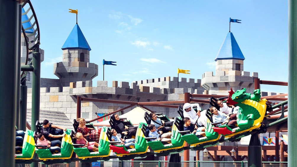 Show item 3 of 9. Dragon rollercoaster at Legoland Dubai