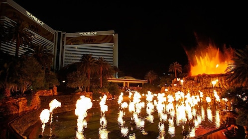 Volcano fire show outside the Mirage Hotel in Las Vegas