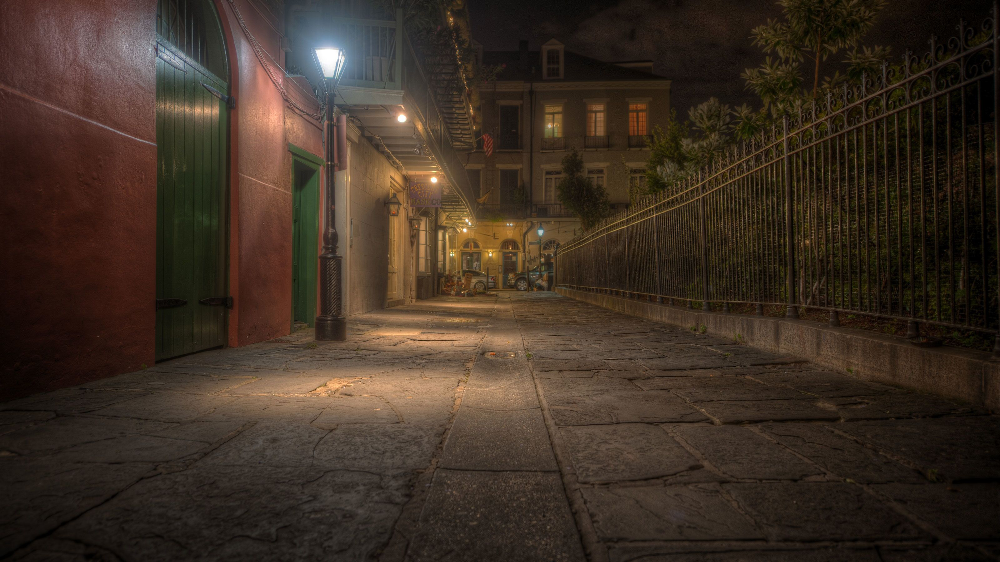 Pirates Alley, the start point of the Ghost City Tour in New Orleans.