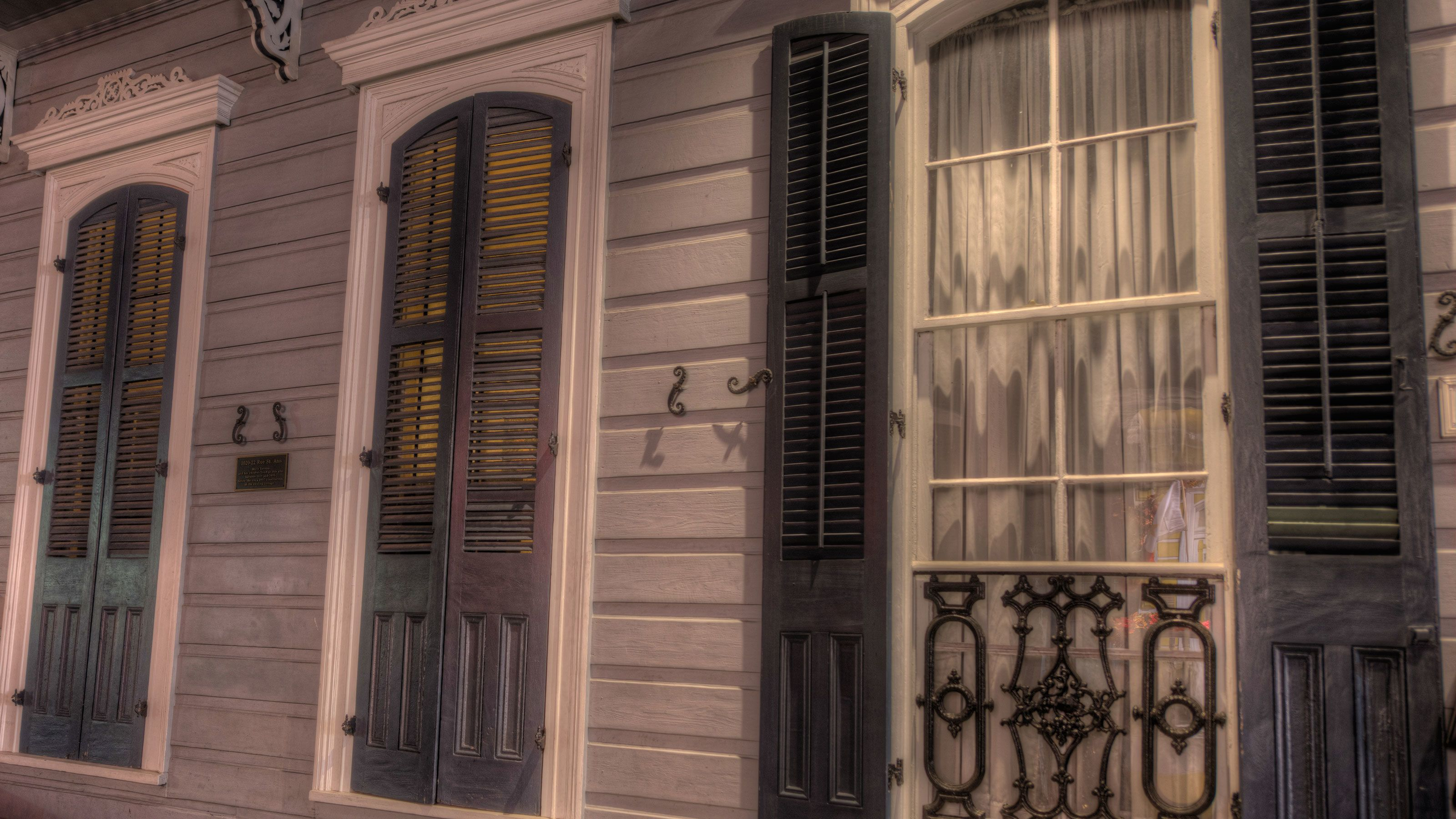 Exterior of Marie Lava's home in the French Quarter in New Orleans
