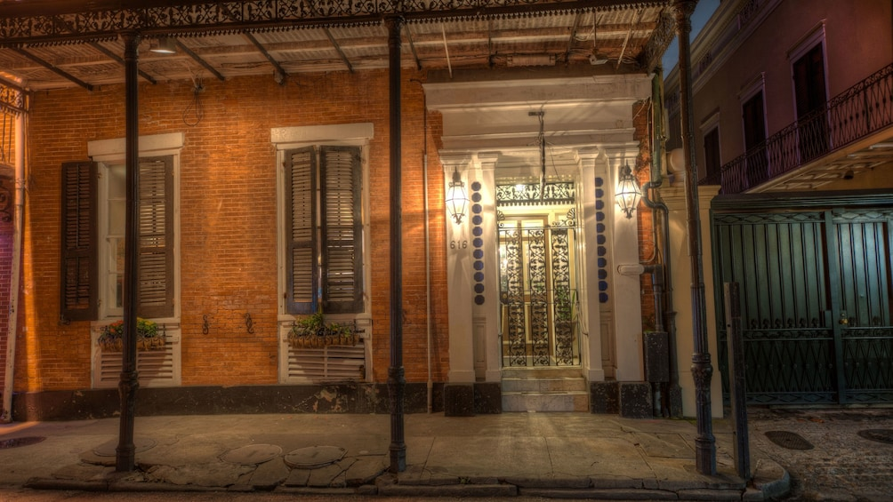 Show item 5 of 5. illuminated front of building in the French Quarter of New Orleans