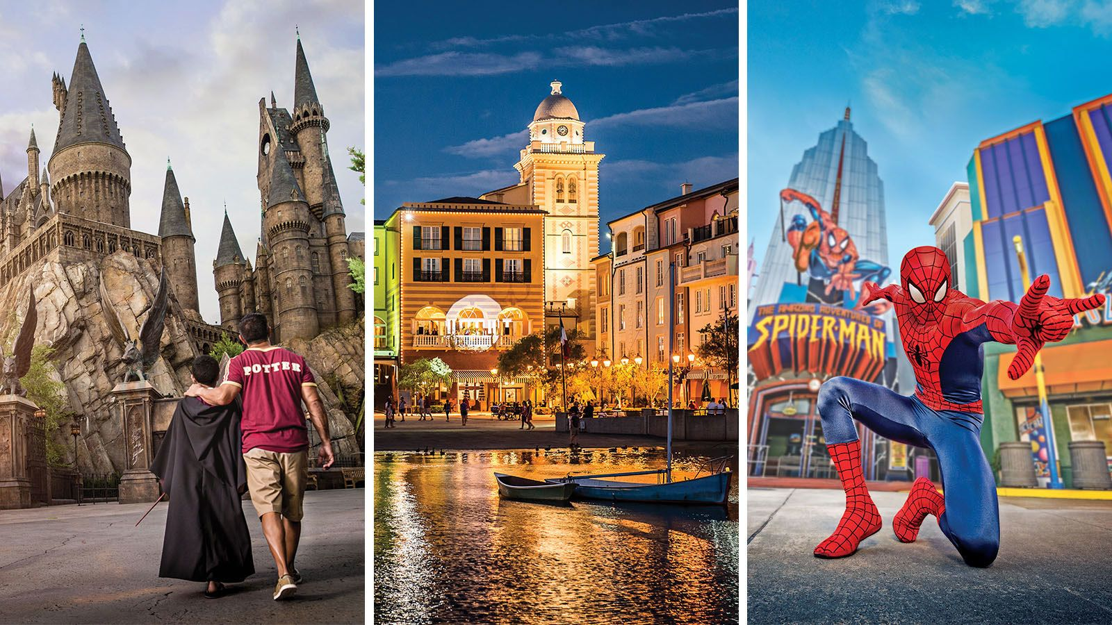 Combo image of attractions at Universal Studios Orlando