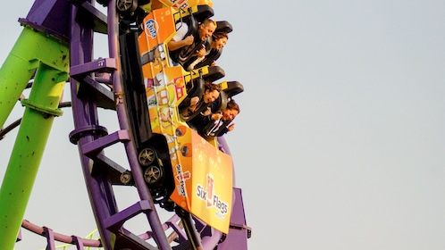 Rollercoaster at Six Flags Mexico