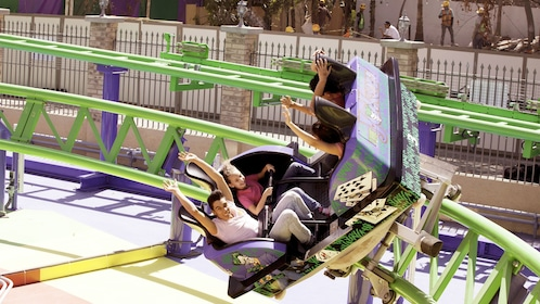 Group having fun at Six Flags Mexico