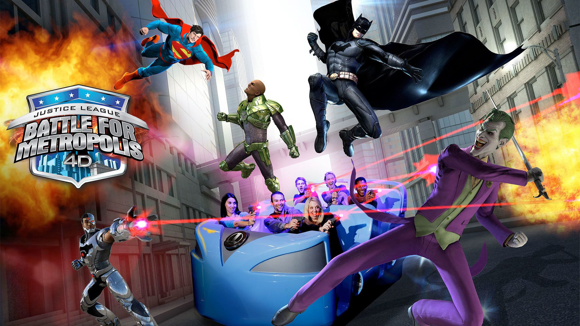 Justice League Battle for Metropolis ride at Six Flags Mexico