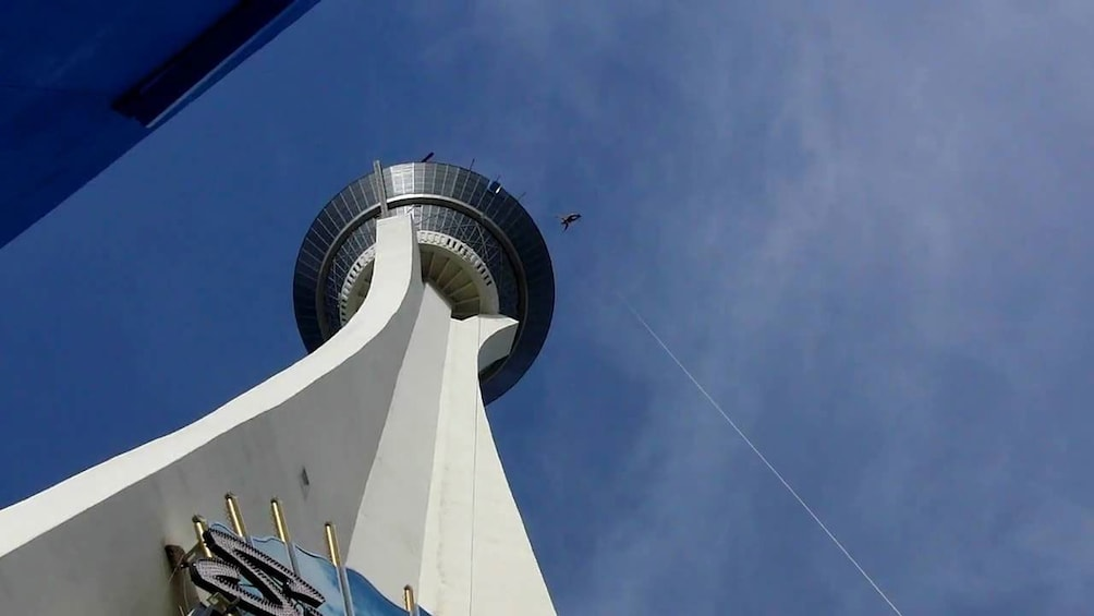 Show item 2 of 6. Person jumping from the Stratosphere in Las Vegas
