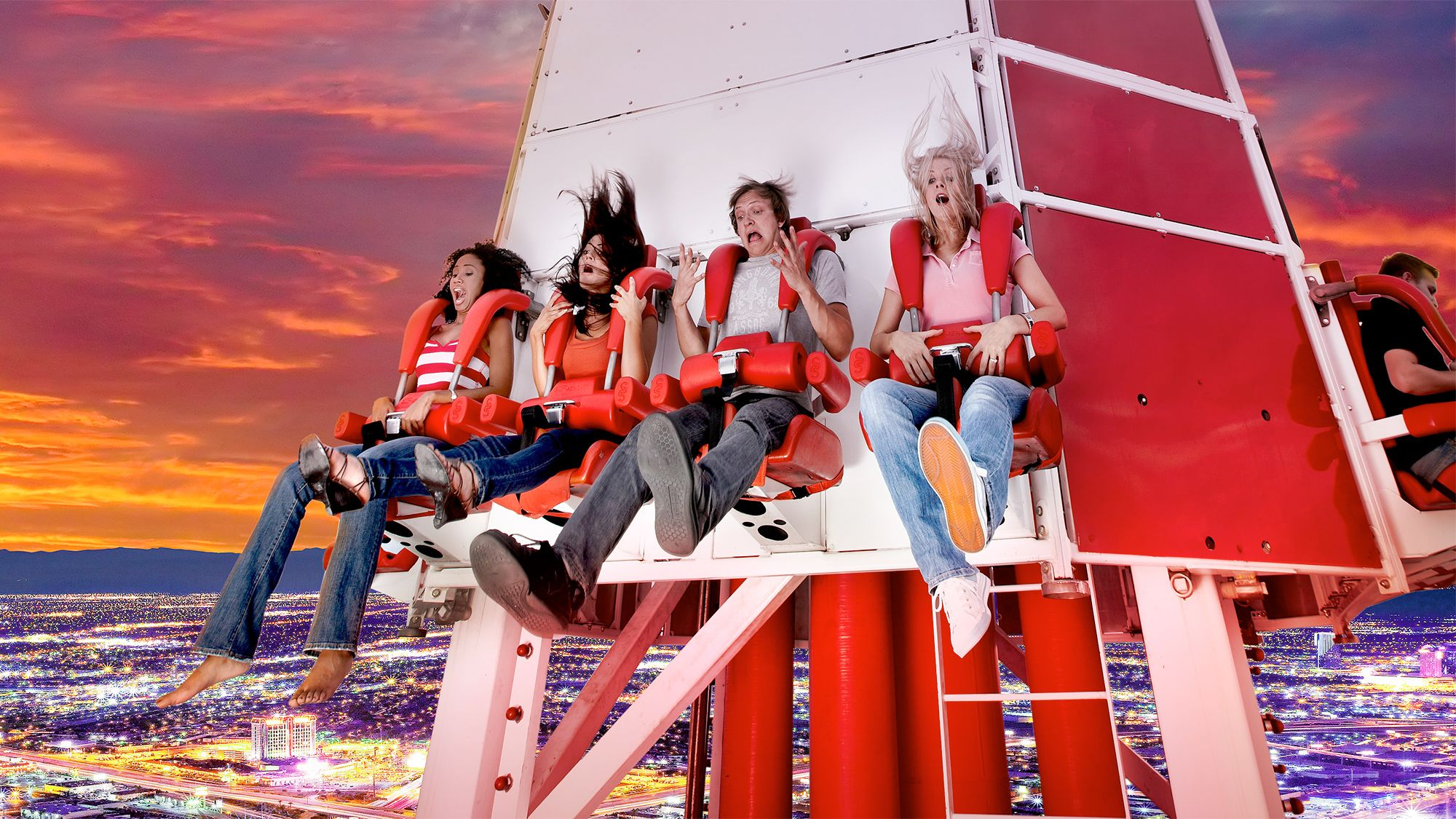 Group at the Stratosphere Tower in Las Vegas, NV