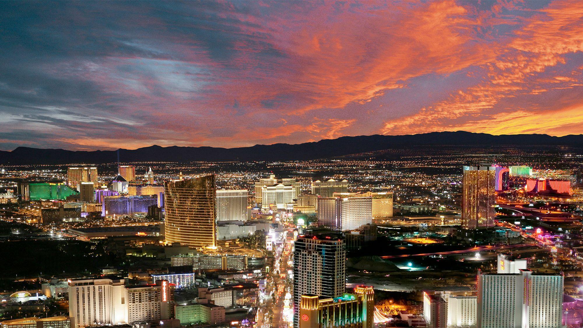 View of Las Vegas at night
