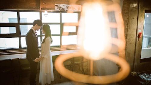 Couple on the Pre-Wedding Photography activity on Jeju Island, South Korea