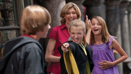 Family having fun at the Wizarding World of Harry Potter